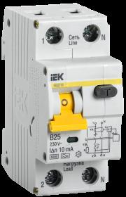 Автоматические выключатели дифференциального тока АД